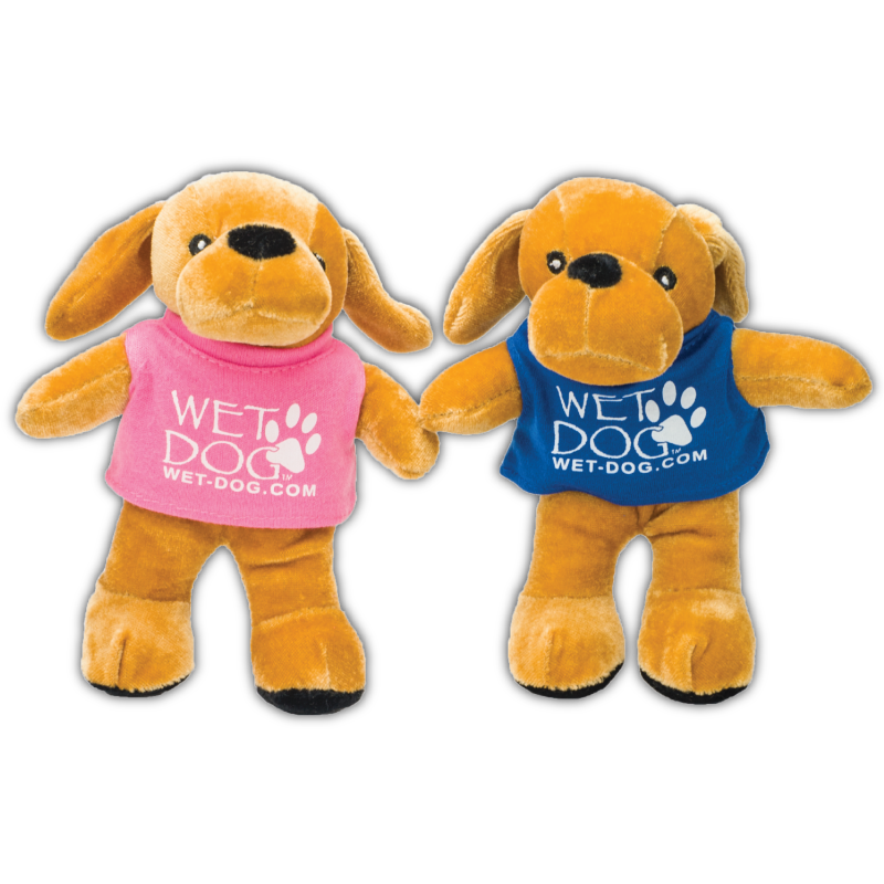 Wet Dog Stuffed Mascot Pair
